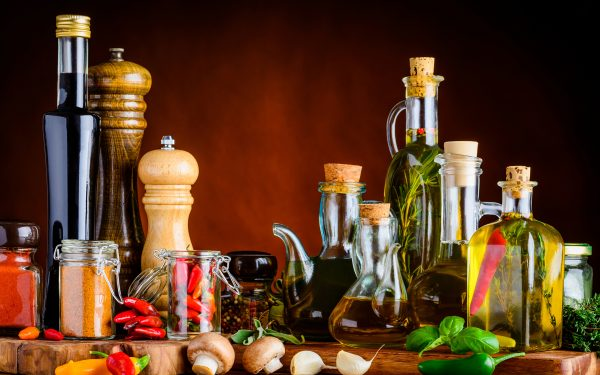 Spices Pepper Mushrooms Bottle Jar Oil 543221 2880x18001