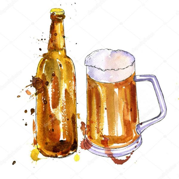 depositphotos 120079280 stock photo bottle of beer and cup1